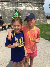 Mackenzie and Claire getting their free 4th grade National Park Pass
