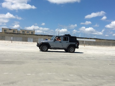 First time driving on beach