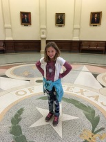 Standing in the middle of the Rotunda (if you stand on the star and speak, it magnifies your voice)