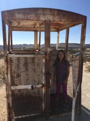 Abandoned mining elevator