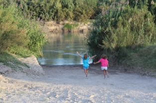 excited to touch the Rio Grande