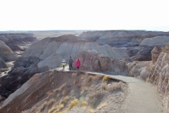 hike down to the badlands
