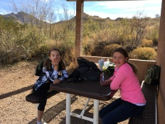 This is where we had lunch and school after our hike today.