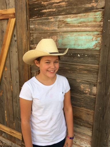 Abby's cowboy hat