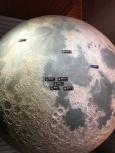 the moon landing locations.