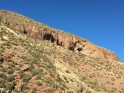 looking up to the cliff dwellings