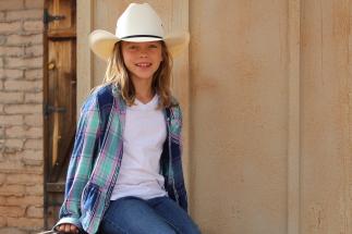 Mackenzie's new cowboy hat