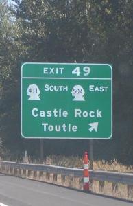WA road sign